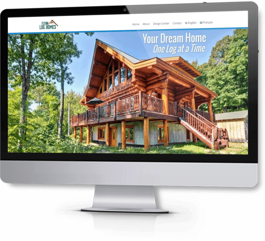 Web Design - Our Clients - Flynn Log Homes