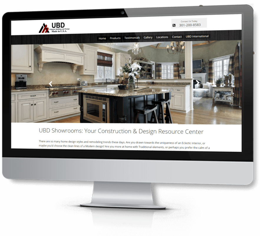 Web Design - Our Clients - UBD Showrooms
